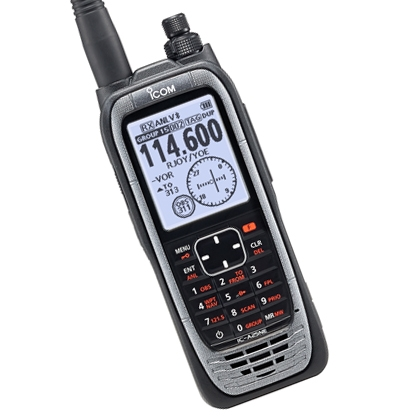 Icom's Next Generation Air Band Radio with Built-in GPS and Built-in Bluetooth®