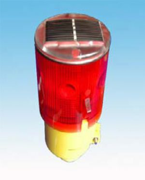 SOLAR LED BEACON MARKER RED