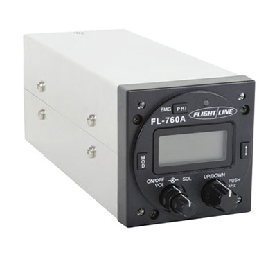 FLIGHTLINE 760A PANEL MOUNT COM RADIO