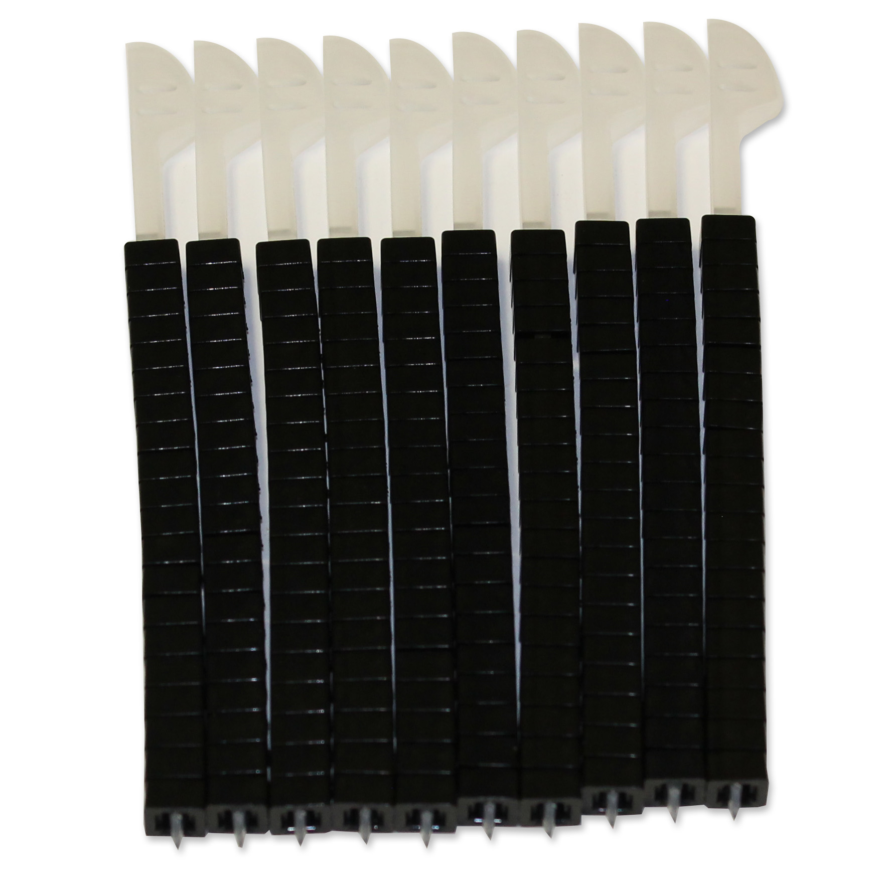 QuikZip Black Tie Ends 200-Pack